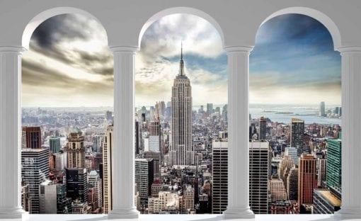 Fototapet med motivet: New York City horisont Pelare Bågar
