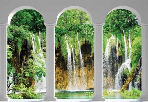 Fototapet med motivet: Vattenfall Titta genom Bågar