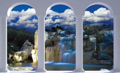 Fototapet med motivet: Vattenfall Natur Bågar
