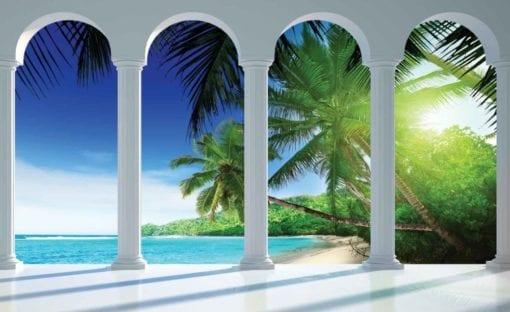 Fototapet med motivet: Strand Tropiskt paradis Bågar