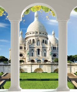 Fototapet med motivet: Sacre Coeur Paris Bågar