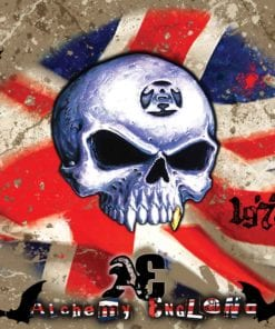 Fototapet med motivet: Alkemi Union Jack Skalle