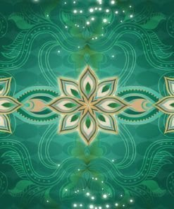 Fototapet med motivet: Gröna guld abstrakt mönster
