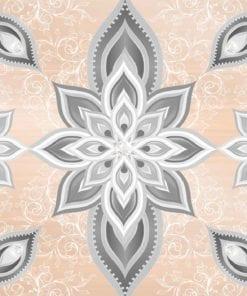 Fototapet med motivet: Abstrakt mönster Silver Guld