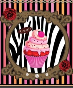 Fototapet med motivet: Cupcake Ränder