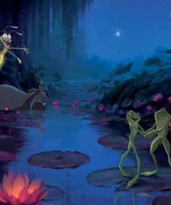 Fototapet med motivet: Disney Princesses Princess Groda Prinsessor