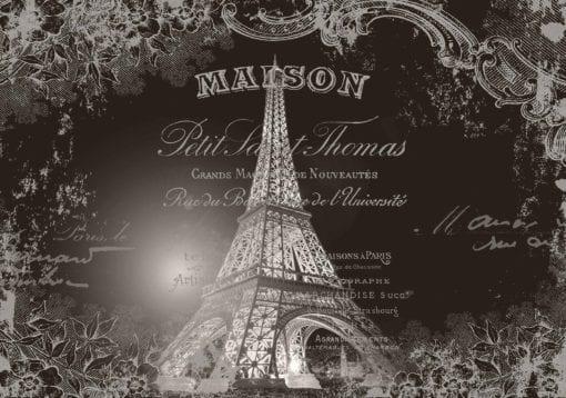 Fototapet med motivet: Eiffeltornet Vintage
