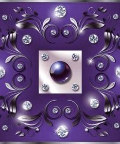 Fototapet med motivet: Lila Diamant Abstrakt Modern