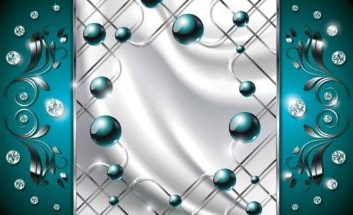 Fototapet med motivet: Turkos Diamant Abstrakt Modern