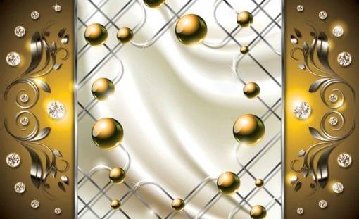Fototapet med motivet: Gul Diamant Abstrakt Modern