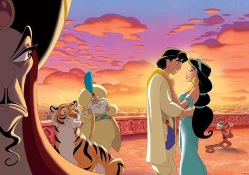 Fototapet med motivet: Disney Princesses Jasmin Aladdin Prinsessor