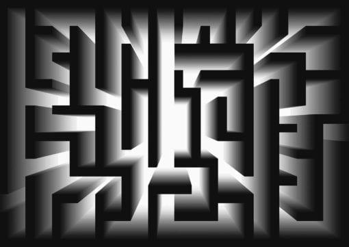 Fototapet med motivet: Abstrakt mönster Modern