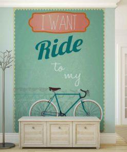 Fototapet med motivet: Racing Cykel retro
