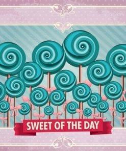 Fototapet med motivet: Cupcakes Rosa Retro
