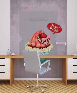 Fototapet med motivet: Cupcake Retro