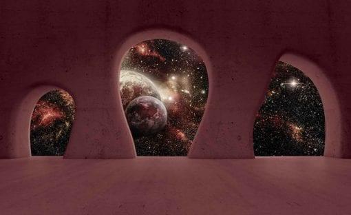 Fototapet med motivet: Rymden Planeter Utsikt Modern