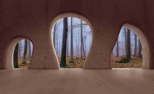 Fototapet med motivet: Skog Utsikt Modern