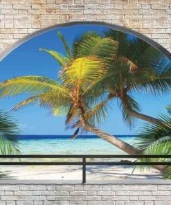 Fototapet med motivet: Tropisk Strand Båge Utsikt