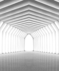 Fototapet med motivet: 3D Modern Geometri