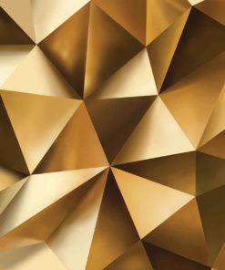 Fototapet med motivet: Abstrakt Konst Guld