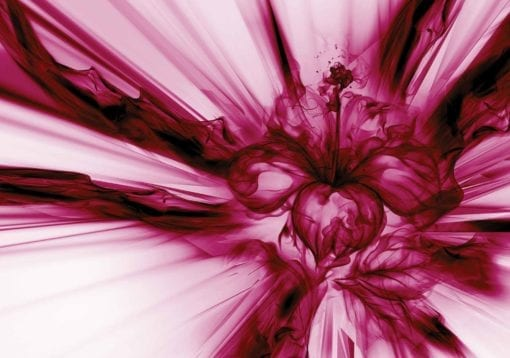 Fototapet med motivet: Abstrakt Konst Rosa