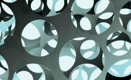Fototapet med motivet: Abstrakt Modern Bå Grå Cirklar