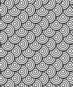 Fototapet med motivet: Abstrakt Modern Cirkel Svart vit