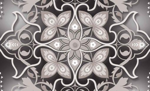 Fototapet med motivet: Abstrakt Modern Design Mönster Blommor