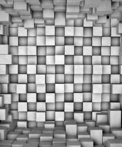 Fototapet med motivet: Abstrakt Modern Grå Mönster