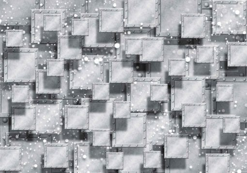 Fototapet med motivet: Abstrakt Modern Grå Silver
