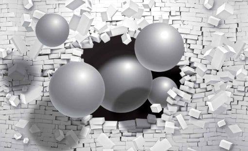 Fototapet med motivet: Abstrakt Tegelvägg Modern