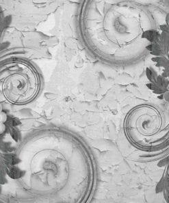 Fototapet med motivet: Abstrakt Vintage mönstrar Svart Vit