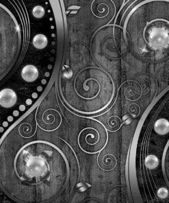 Fototapet med motivet: Abstrakt Virvel Design Svart Vit