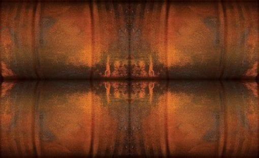Fototapet med motivet: Abstrakt konst Orange Brun