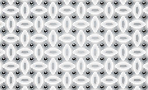 Fototapet med motivet: Abstrakt mönster Modern Svart Vit