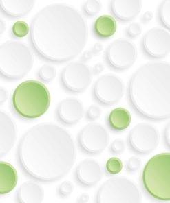Fototapet med motivet: Abstrakt modern Grön Grå Cirklar