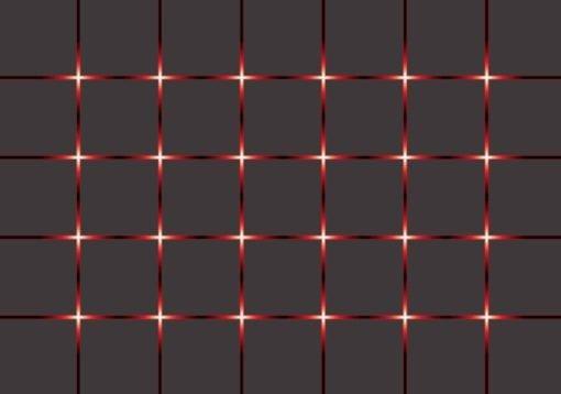 Fototapet med motivet: Abstrakt modern Kuber Svart Röd