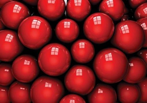 Fototapet med motivet: Abstrakt modern röda bollar