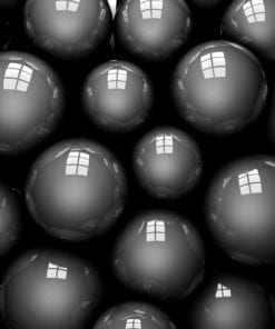 Fototapet med motivet: Abstrakt modern svarta bollar