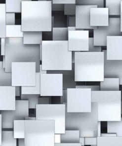 Fototapet med motivet: Abstrakta fyrkanter Modern