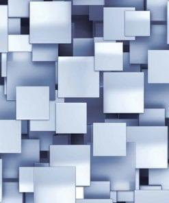 Fototapet med motivet: Abstrakta fyrkanter Modern Blå