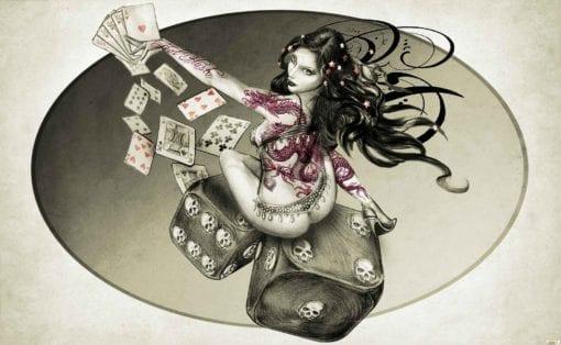 Fototapet med motivet: Alkemi Varm Roller kvinna