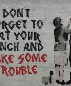 Fototapet med motivet: Banksy Graffiti
