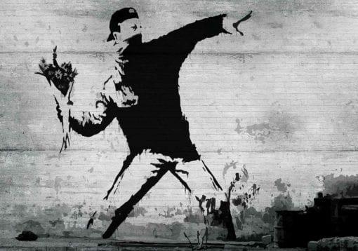 Fototapet med motivet: Banksy Graffiti Betong