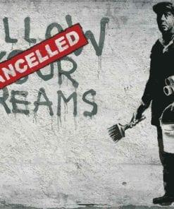 Fototapet med motivet: Banksy Graffiti betongvägg