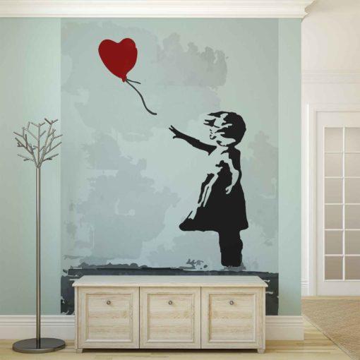 Fototapet med motivet: Banksy Swot Art Balong Hjärta Graffiti