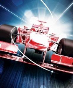 Fototapet med motivet: Bil Formula 1 Röd