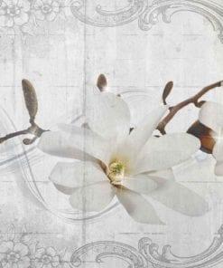 Fototapet med motivet: Blommönster Vintage