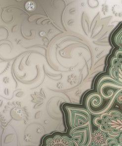 Fototapet med motivet: Blommönster abstrakt grönt