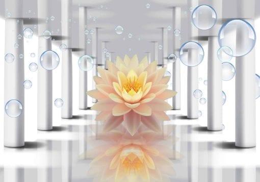 Fototapet med motivet: Blomma Bubblor mönster